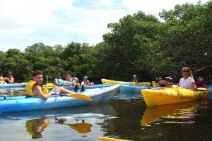 Dana Pounds leads kayak trip for Nature's Academy