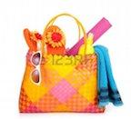 9113845-beach-bag-items