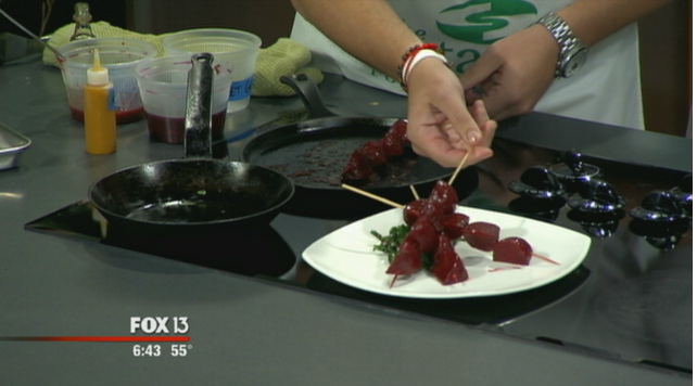 Click to see a Sustainable Buzz dish prepared on TV!